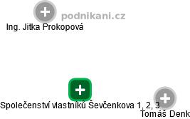 Společenství vlastníků Ševčenkova 1, 2, 3 - náhled vizuálního zobrazení vztahů obchodního rejstříku