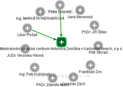 Mezinárodní pěvecké centrum Antonína Dvořáka v Karlových Varech, o.p.s. - náhled vizuálního zobrazení vztahů obchodního rejstříku