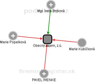 Obecný zájem, z.ú. - náhled vizuálního zobrazení vztahů obchodního rejstříku