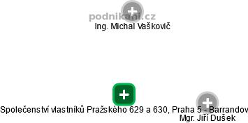 Společenství vlastníků Pražského 629 a 630, Praha 5 - Barrandov - náhled vizuálního zobrazení vztahů obchodního rejstříku