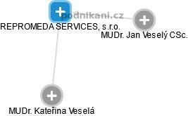 REPROMEDA SERVICES, s.r.o. - náhled vizuálního zobrazení vztahů obchodního rejstříku