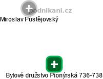 Bytové družstvo Pionýrská 736-738 - náhled vizuálního zobrazení vztahů obchodního rejstříku