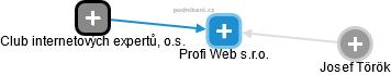Profi Web s.r.o. - náhled vizuálního zobrazení vztahů obchodního rejstříku