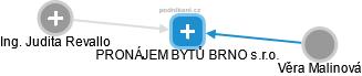 PRONÁJEM BYTŮ BRNO s.r.o. - náhled vizuálního zobrazení vztahů obchodního rejstříku
