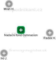 Nadační fond Gymnasion - náhled vizuálního zobrazení vztahů obchodního rejstříku