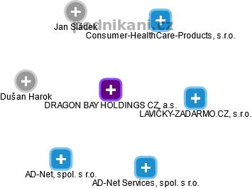 DRAGON BAY HOLDINGS CZ, a.s. - náhled vizuálního zobrazení vztahů obchodního rejstříku