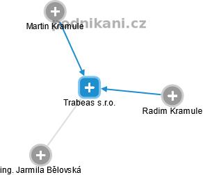 Trabeas s.r.o. - náhled vizuálního zobrazení vztahů obchodního rejstříku
