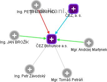 ČEZ Bohunice a.s. - náhled vizuálního zobrazení vztahů obchodního rejstříku