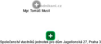 Společenství vlastníků jednotek pro dům Jagellonská 27, Praha 3 - náhled vizuálního zobrazení vztahů obchodního rejstříku