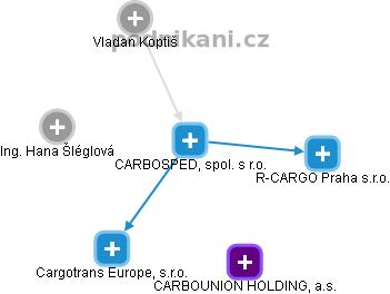 CARBOSPED, spol. s r.o. - náhled vizuálního zobrazení vztahů obchodního rejstříku
