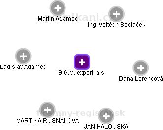 B.G.M. export, a.s. - náhled vizuálního zobrazení vztahů obchodního rejstříku