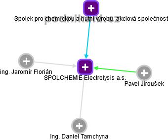 SPOLCHEMIE Electrolysis a.s. - náhled vizuálního zobrazení vztahů obchodního rejstříku