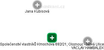 Společenství vlastníků Kmochova 692/21, Olomouc - Nová Ulice - náhled vizuálního zobrazení vztahů obchodního rejstříku