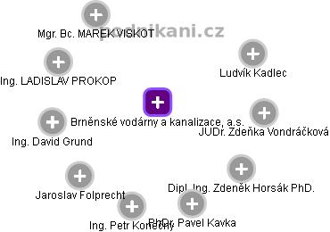 Brněnské vodárny a kanalizace, a.s. - náhled vizuálního zobrazení vztahů obchodního rejstříku