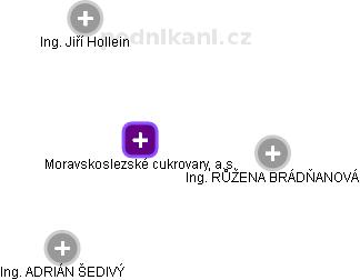 Moravskoslezské cukrovary, a.s. - náhled vizuálního zobrazení vztahů obchodního rejstříku