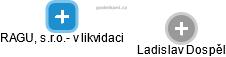 RAGU, s.r.o.- v likvidaci - náhled vizuálního zobrazení vztahů obchodního rejstříku