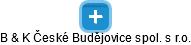 B & K České Budějovice spol. s r.o. - náhled vizuálního zobrazení vztahů obchodního rejstříku