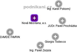 Nová Mosilana, a.s. - náhled vizuálního zobrazení vztahů obchodního rejstříku