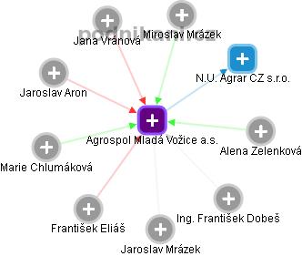 Agrospol Mladá Vožice a.s. - náhled vizuálního zobrazení vztahů obchodního rejstříku