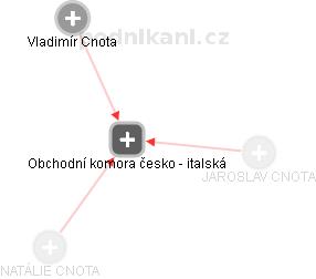 Obchodní komora česko - italská - náhled vizuálního zobrazení vztahů obchodního rejstříku