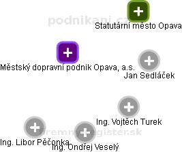 Městský dopravní podnik Opava, a.s. - náhled vizuálního zobrazení vztahů obchodního rejstříku