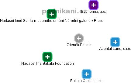 Zdeněk Bakala - obrázek vizuálního zobrazení vztahů v obchodním rejstříku